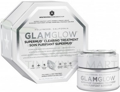 GlamGlow 白罐潔淨面膜 GlamGlow Super Mud Clearing Treatment 1.2oz