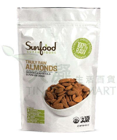 SunFood 有機生機杏仁227g