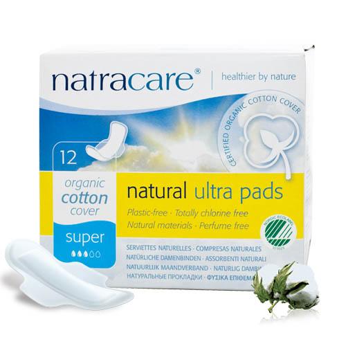 Natracare 有機衛生巾超薄護翼-多量12片