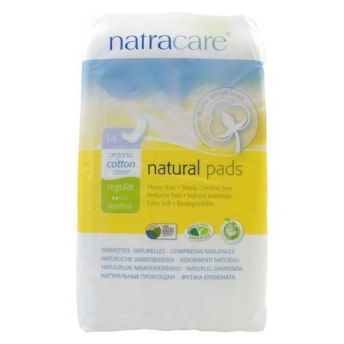 Natracare 有機棉面 衛生巾 普通14片 一般日用