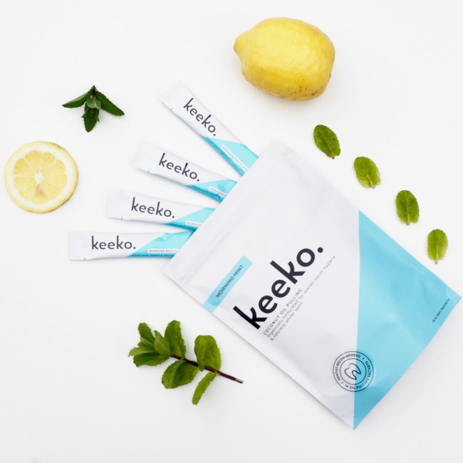 Coming~Keeko Morning Mint Oil Pulling Keeko 2星期美白牙齒 薄荷味 油拔法
