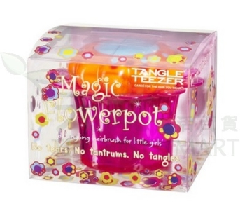 Tangle Teezer 兒童順髮梳-粉色TT Magic Flower Pot PINK