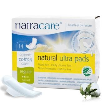 Natracare 有機衛生巾超薄護翼-普通14片